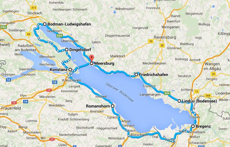 Grobe Routenplanung der Mofatour 2015